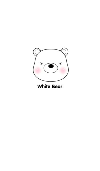 Simple White Bear Theme Vr.2