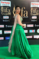 Manjusha in Beautiful Sleeveless Green Anarkali dress at IIFA Utsavam Awards 11.JPG