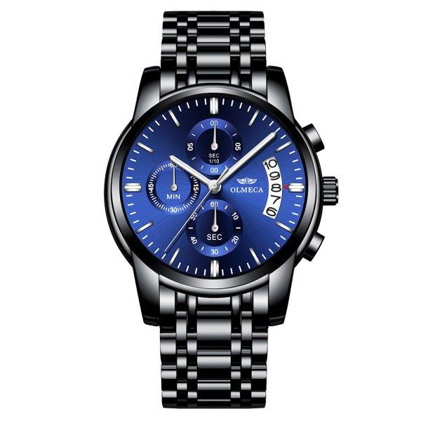 OLMECA Stock Men Watch Luxury Gold Quartz Wrist Watch Chronograph Watches