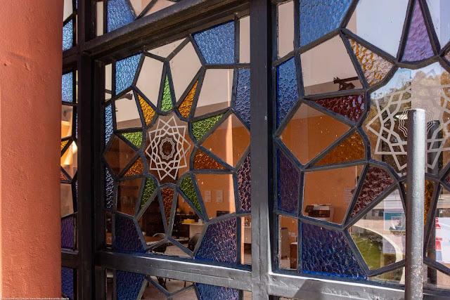 Memorial Árabe - detalhe vitral