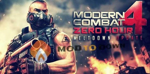 تحميل لعبة Modern Combat 4: Zero Hour APK+OBB مضغوطة بحجم 3 MB