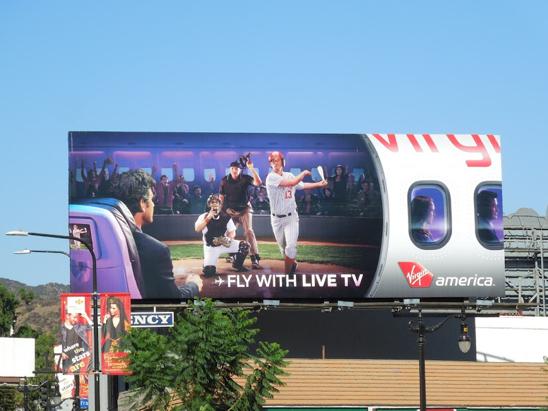 Fly live TV Virgin America billboard