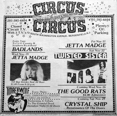 Circus Circus rock club band lineup 1980