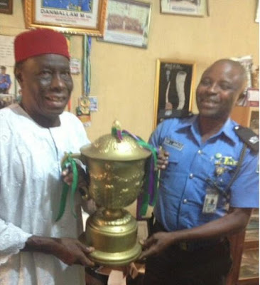 Mikel Obi's Dad Pays Courtesy Visit To Enugu Police After Rescue From Kidnappers