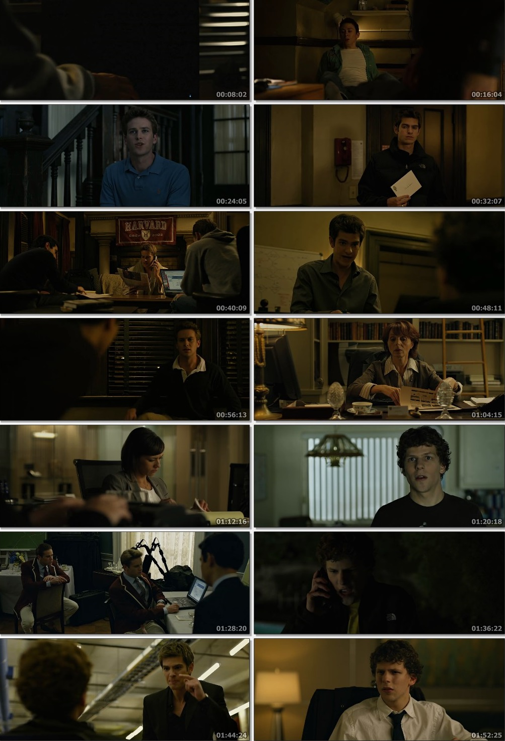 Screen Shot Of The Social Network 2010 300MB Full Movie Hindi Dubbed Free Download 480P BRRip Small Size PC Movie