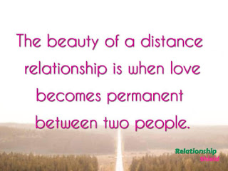 The beauty of a distance  relationship is when love becomes permanent  between two people.
