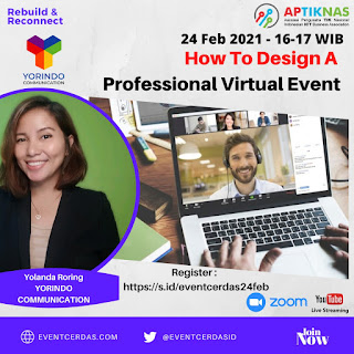 Webinar StartSMEup Talk 24 Feb 2021 - How to Design A Professional Virtual Event