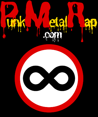 PunkMetalRap.com wordmark & brandmark logo.
