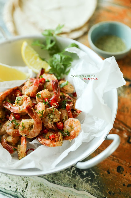 hot and spicy shrimps