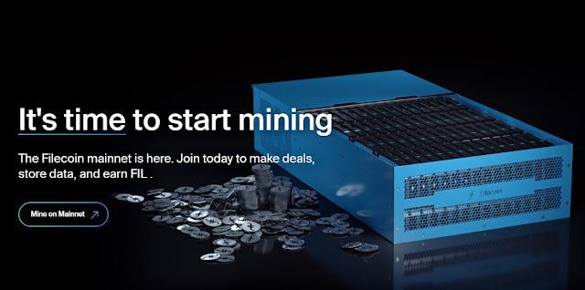 Ilustrasi Mining Filecoin (FIL)