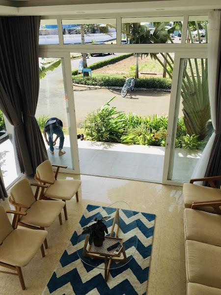 hình ảnh thực tế phòng khách trong căn nhà mẫu thuộc dự án Princess Villas Vũng Tàu