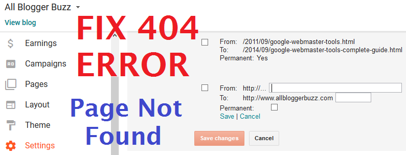 How to Fix 404 Page Not Found Error and Redirect Page To