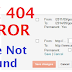 How to Fix 404 Page Not Found Error and Redirect Page To Custom URL