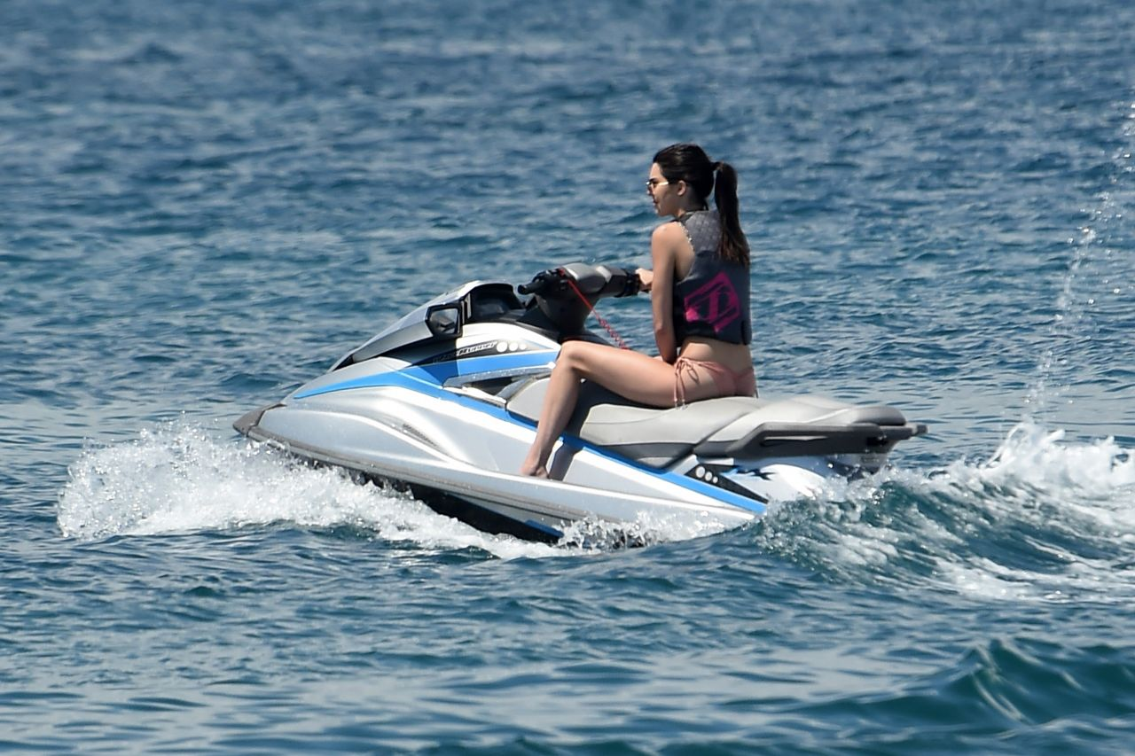 Kendall Jenner - in a Bikini On a Yacht & Jet Ski, Cannes, May 15, 2016