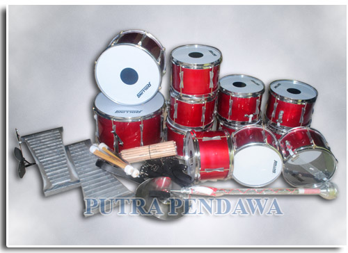 jual 1 set  alat drum band dan Marching Band tingkat TK,  SD,  SMP, SMA