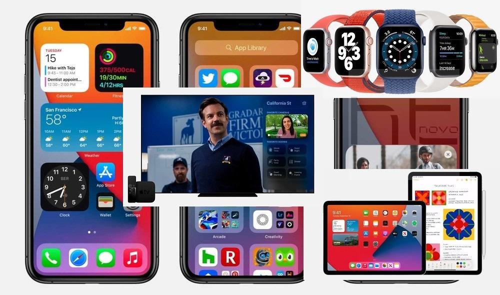 iOS 14, iPadOS 14, watchOS 7 e tvOS 14 disponibili per tutti