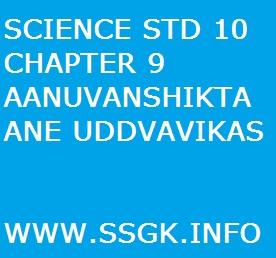 SCIENCE STD 10 CHAPTER 9 AANUVANSHIKTA ANE UDDVAVIKAS