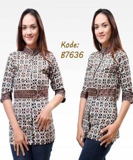 model baju batik pegawai bank wanita