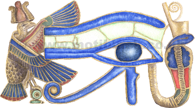 Eye of Horus Watercolour Painting