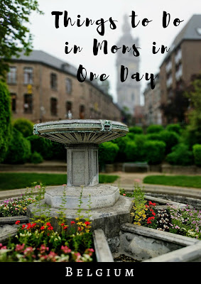 Things to do in Mons Belgium in one day: Gargoyle fountain in the park