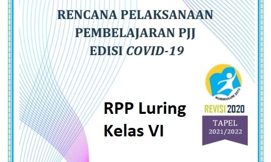 RPP Pembelajaran Luring SD Kelas 6 Kurikulum 2013