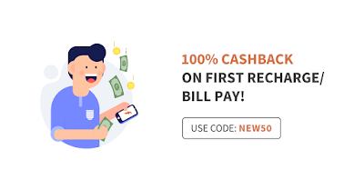 Get 100% cashback on Recharge/bill pay upto Rs 50 [ freecharge ].
