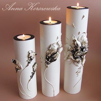 Witaj w moim wiecie wieczniki komplet blossom - Manualidades con papel pintado ...