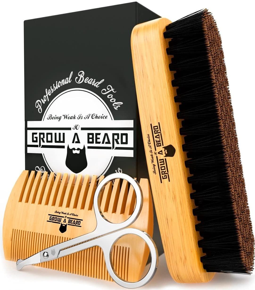 Beard Brush Comb Set
