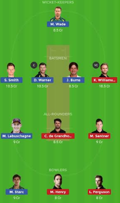 AUS vs NZ Dream11 team