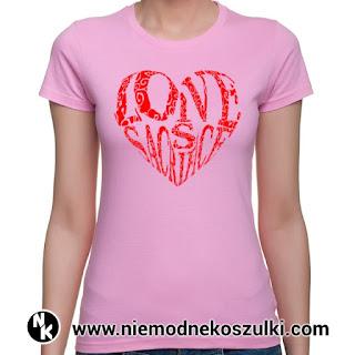 koszulka z sercem walentynki