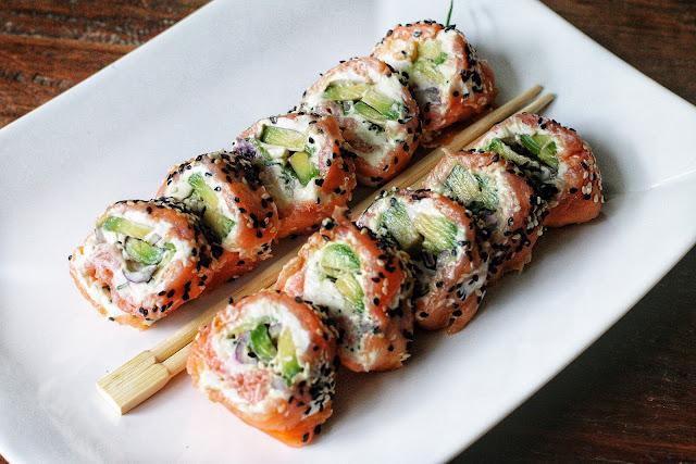 Keto Salmon Avocado Rolls