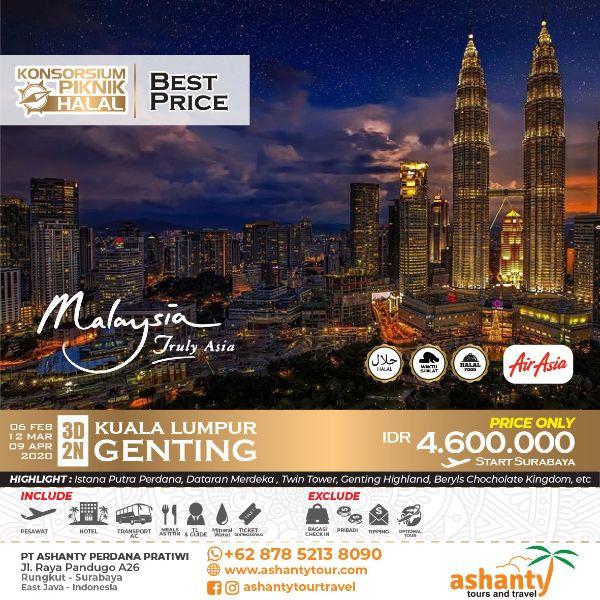 paket tour malaysia 3 hari 2 malam dari surabaya