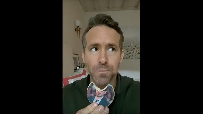 Ryan Reynolds se graba una hora comiendo galletas con la cara de Robert Downey Jr.