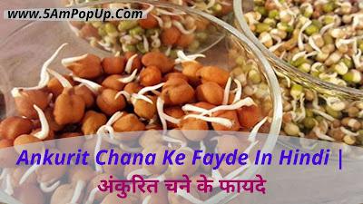 Ankurit Chane Ke Fayde In Hindi   अंकुरित चने के फायदे