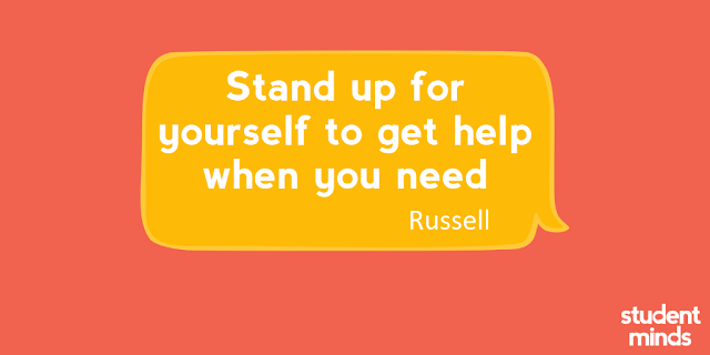 'Stand up for yourself to get help when you need' - Russell