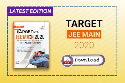 [Pdf] Download Disha Target JEE Main 2020 | NTA Latest Pattern