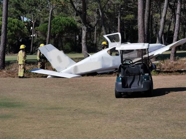 Avioneta com 3 ocupantes aterra de emergência nos Oitavos