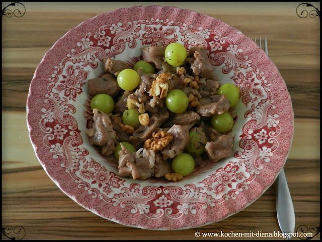 Lammragout mit Trauben