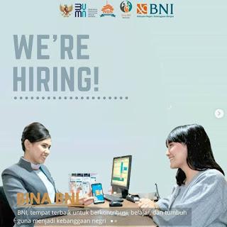 Lowongan Kerja BNI Program Bina BNI (SMA-S1)
