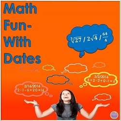 Writing dates as different mathematical expressions.