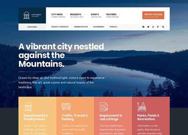 CityGovtBest Political WordPress Themes 2020