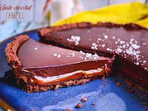 Tarte chocolat caramel (spéciale confinement !)