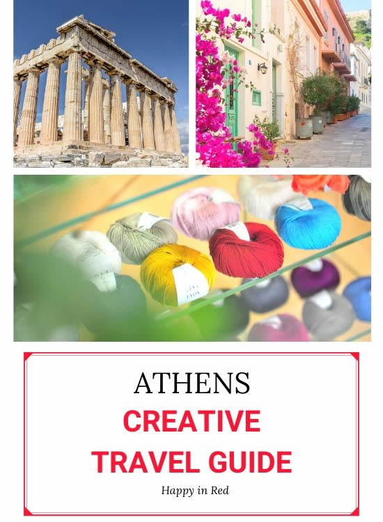 Wool shops Athens, Greece. Creative travel guide Athens | Happy in Red