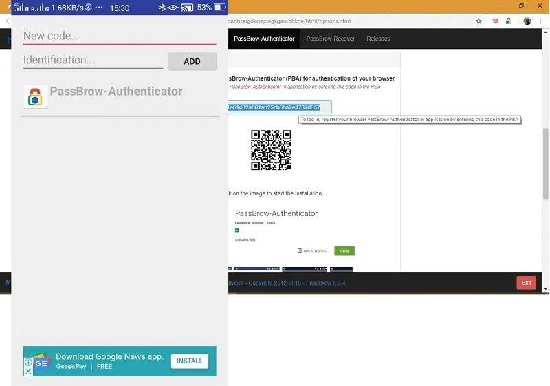 تطبيق passbrow-Authenticator-android