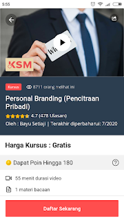 Kursus Online Gratis Cara Meningkatkan Personal Branding