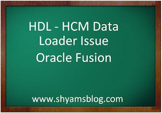 HDL-Hcm Data Loader issue