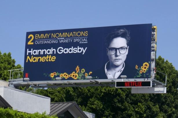 Hannah Gadsby Nanette 2 Emmy noms billboard