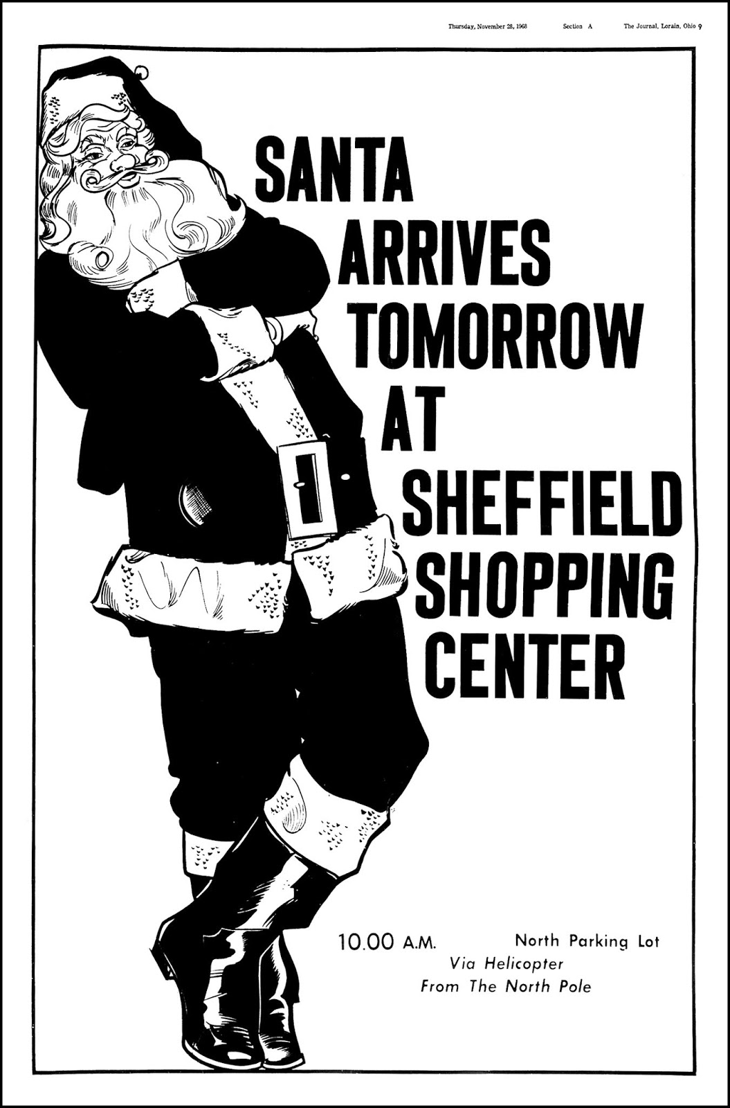 Sheffield Shopping Center - published in the Lorain Journal - November 29, 1968