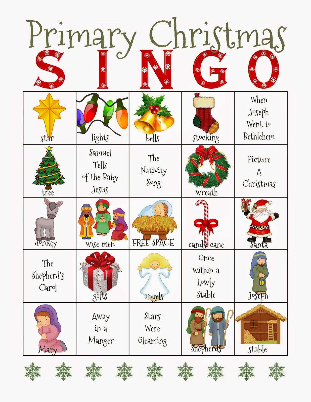 Camille S Primary Ideas Christmas Singo