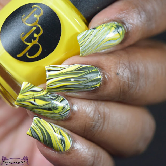 Watermarble Wednesdays: Yellow, Black & White